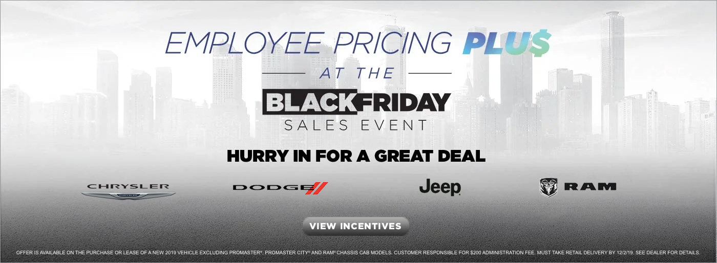 Employee Pricing PLUS at the Black Friday Sales Event near West Covina CA