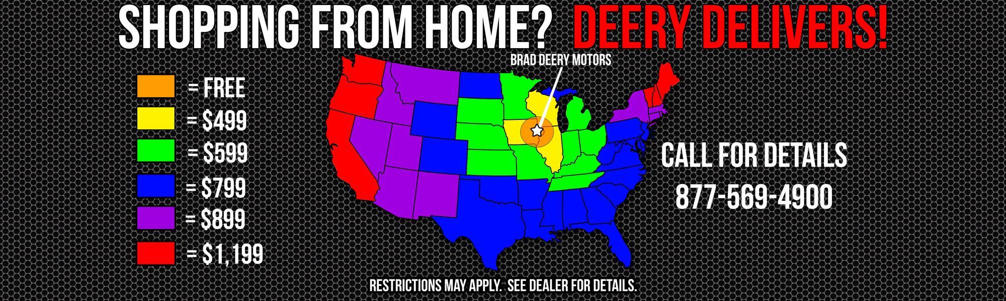 Shop from Home and Brad Deery Motors Delivers