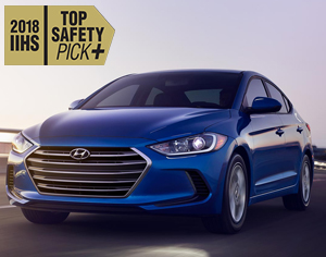 2018 ELANTRA named 2018 IIHS Top Safety Pick+