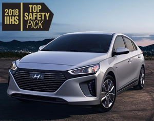 2018 IONIQ HEV named a 2018 IIHS Top Safety Pick