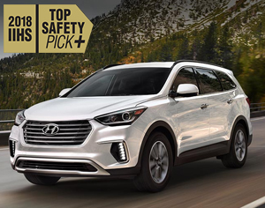 2018 SANTA FE named 2018 IIHS Top Safety Pick+