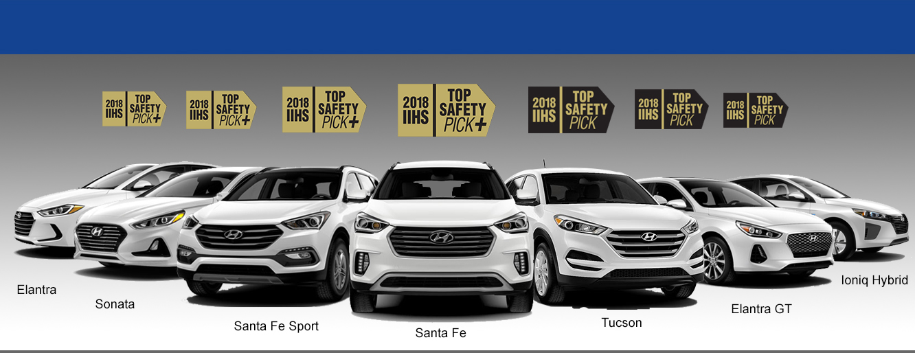 7 Hyundai Vehicles Recognized For Safety in IIHS Awards
