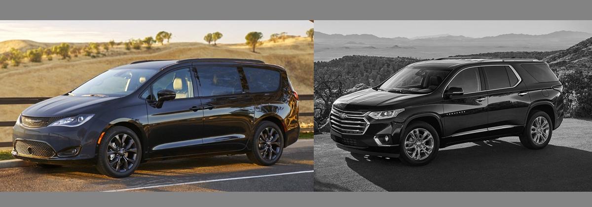2018 Chrysler Pacifica vs 2018 Chevrolet Traverse   Wabash IN