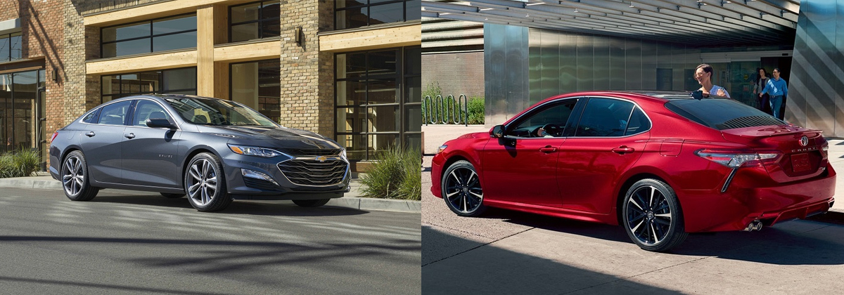 2019 Chevrolet Malibu vs 2019 Toyota Camry near Round Rock TX