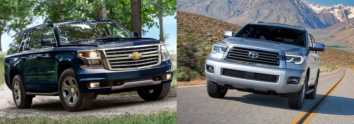 2019 Chevrolet Suburban vs 2019 Toyota Sequoia near Round Rock TX