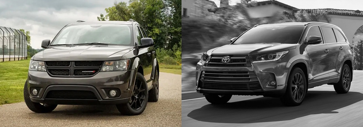 Compare  Dodge Journey vs  Toyota Highlander - Albuquerque NM