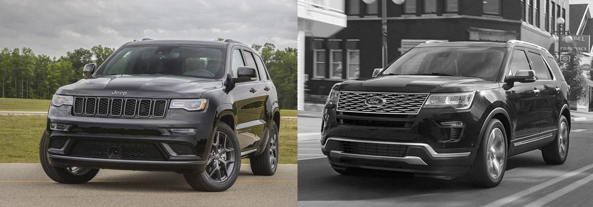 2019 Jeep Grand Cherokee vs 2019 Ford Explorer near Fort Wayne IN