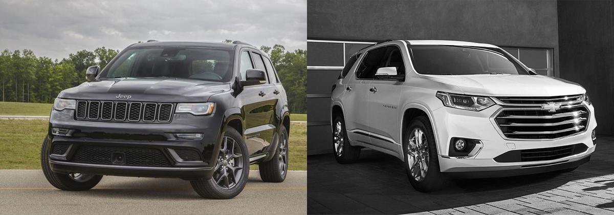 Compare 2019 Jeep Grand Cherokee vs 2019 Chevrolet Traverse in Wabash IN