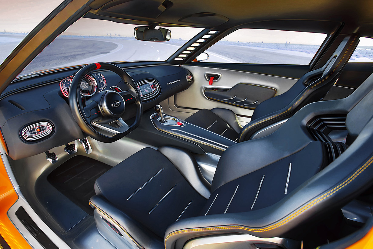 Detroit Michigan - KIA GT4 STINGER Concept's Interior