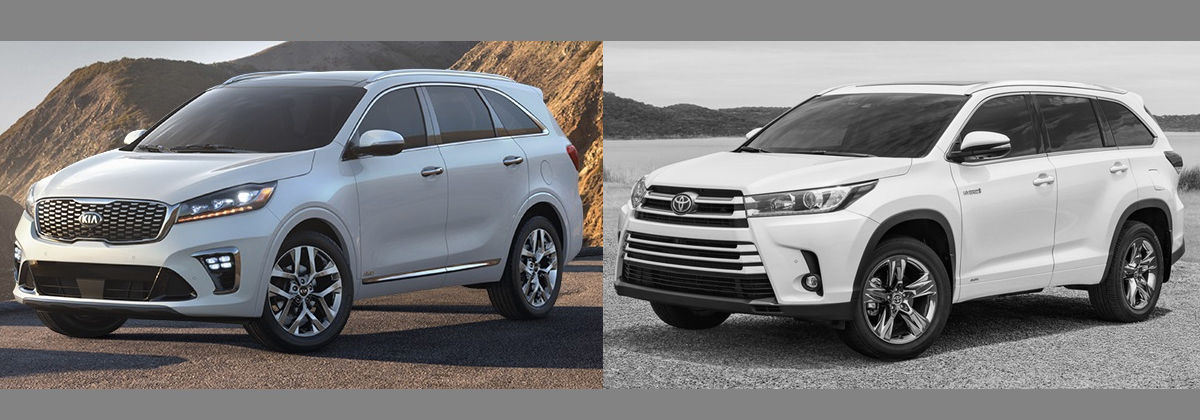 2019 KIA Sorento vs 2019 Toyota Highlander Greensboro NC