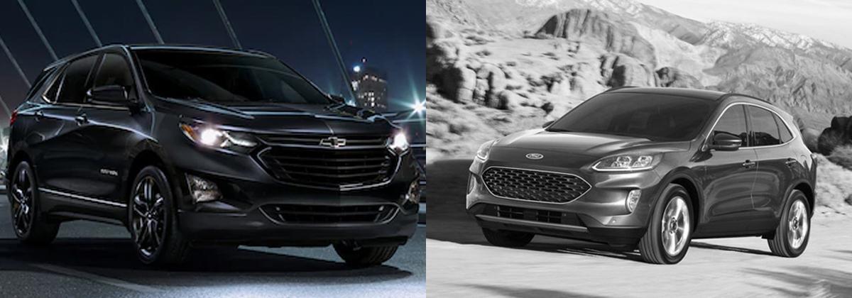 2020 Chevrolet Equinox vs 2020 Ford Escape in Lancaster OH