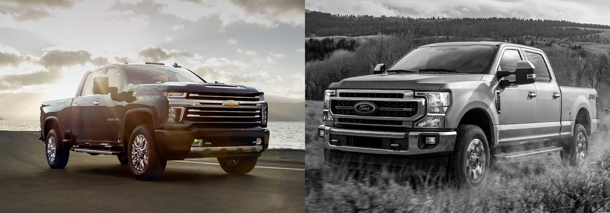 2020 Chevrolet Silverado HD vs 2020 Ford Super Duty near Austin TX