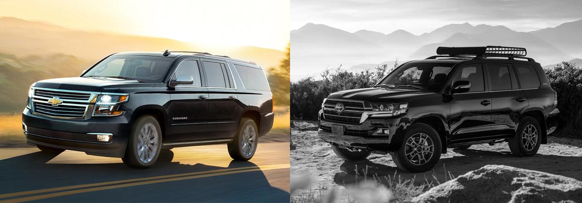 2020 Chevrolet Suburban vs 2020 Toyota Land Cruiser near Austin TX