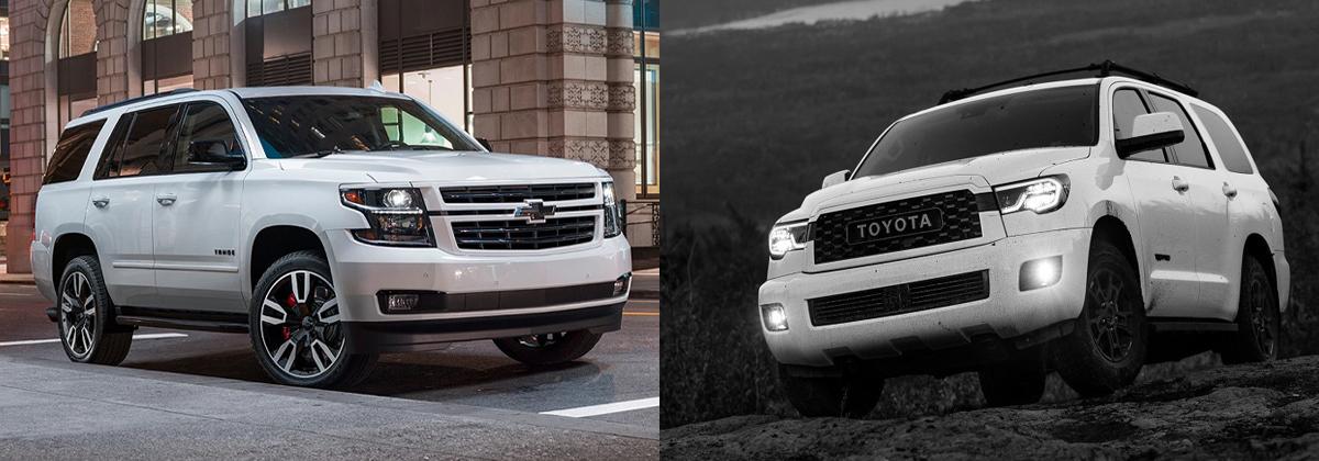 2020 Chevrolet Tahoe vs 2020 Toyota Sequoia near Austin TX