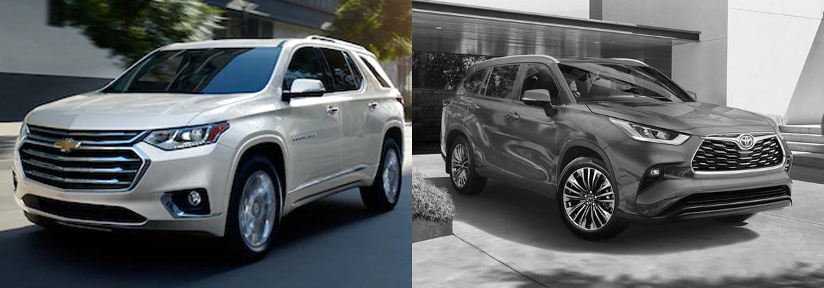 2020 Chevrolet Traverse vs 2020 Toyota Highlander near Austin TX