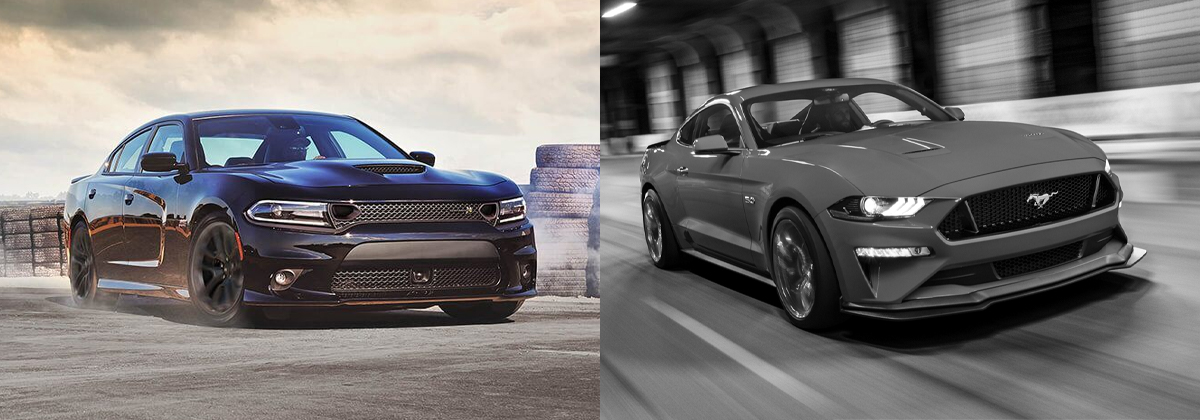 2020 Dodge Charger vs 2020 Ford Mustang near Fort Wayne IN