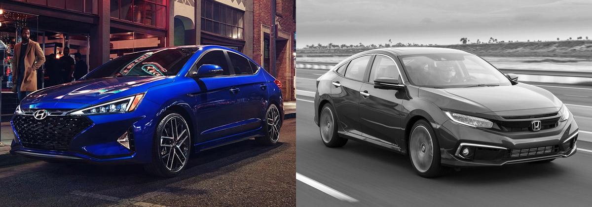 2020 Hyundai Elantra vs 2020 Honda Civic - Metro Detroit MI