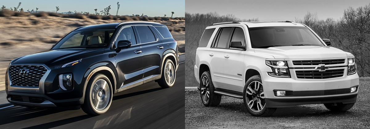 2020 Hyundai Palisade vs 2020 Chevrolet Tahoe - Centennial CO