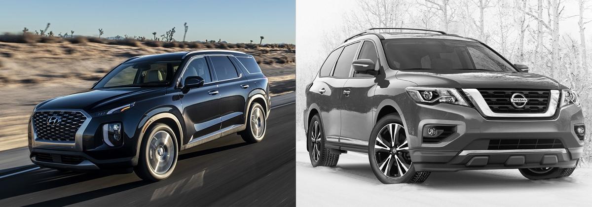 2020 Hyundai Palisade vs 2020 Nissan Pathfinder near Detroit MI