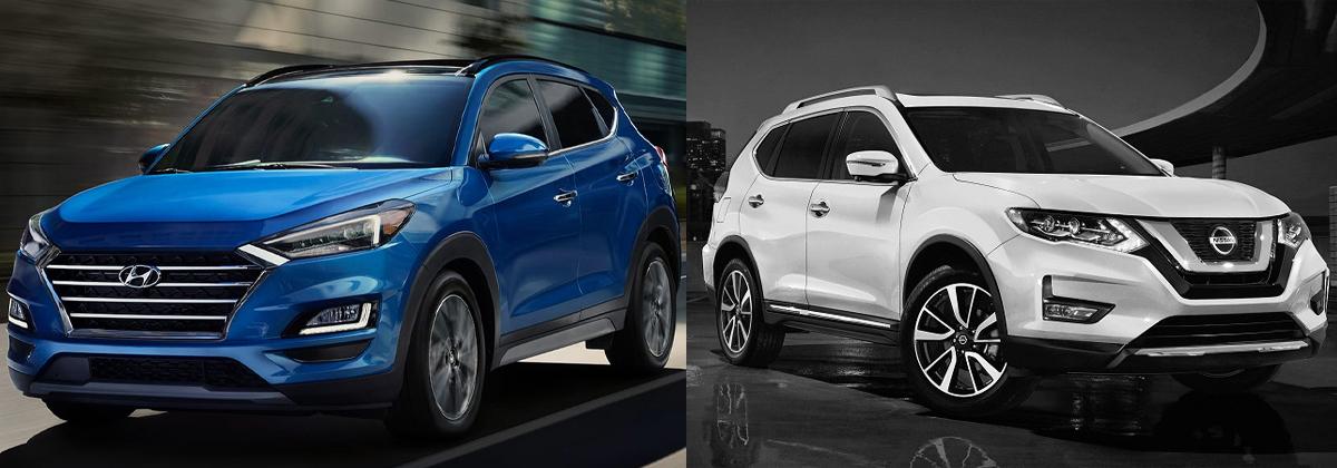 2020 Hyundai Tucson vs 2020 Nissan Rogue near Detroit MI