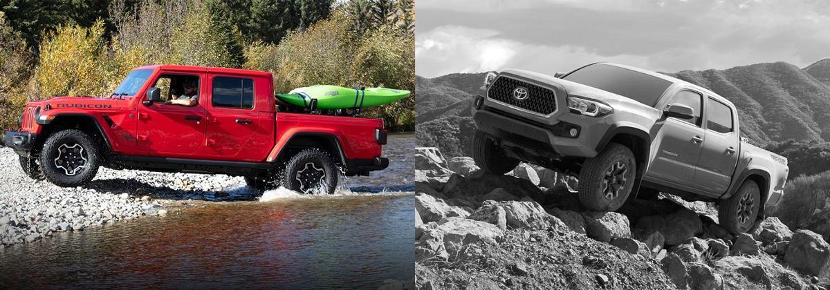 2020 Jeep Gladiator vs 2019 Toyota Tacoma - Lexington NC