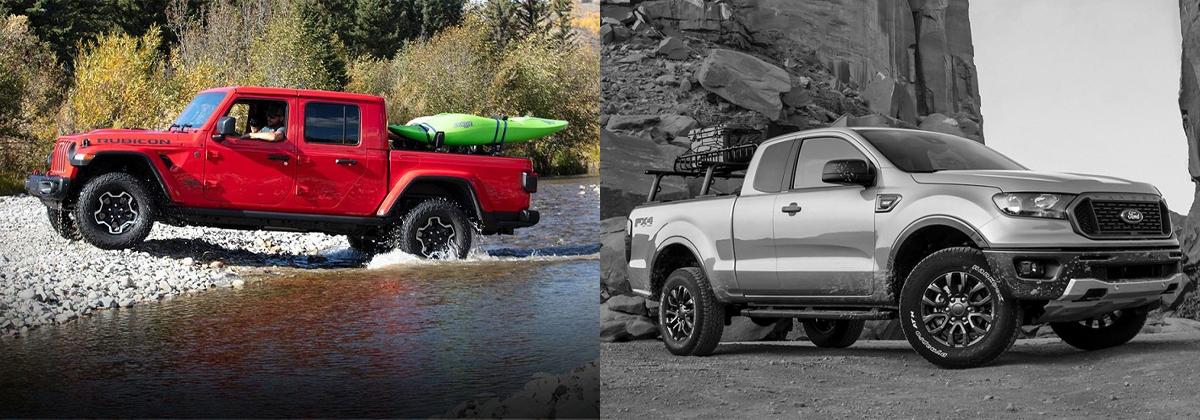 2020 Jeep Gladiator vs 2020 Ford Ranger near Anaheim CA