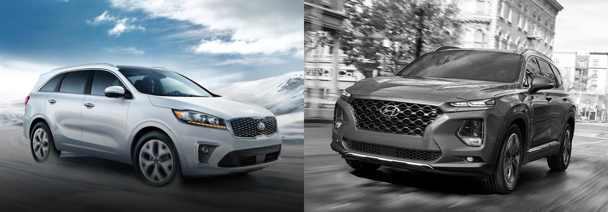 2020 Kia Sorento vs 2020 Hyundai Santa Fe in Boardman Ohio