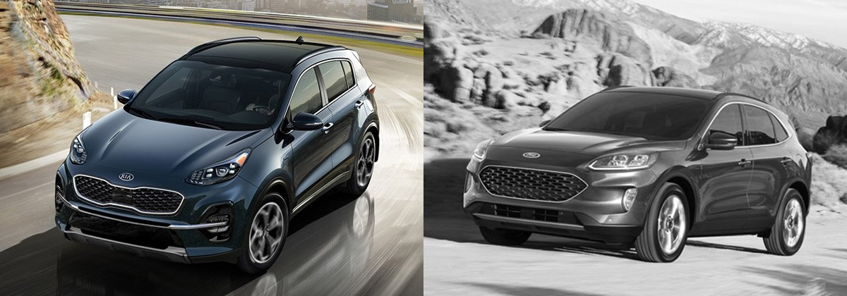 Drive Taylor - Compare the 2020 Kia Sportage and 2020 Ford Escape near Youngstown OH