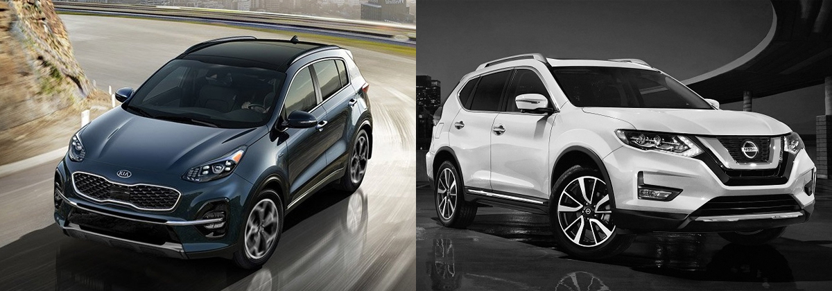 2020 Kia Sportage vs 2020 Nissan Rogue in Mississauga ON