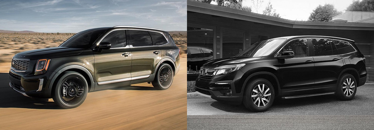 2020 Kia Telluride vs 2020 Honda Pilot in Mississauga ON