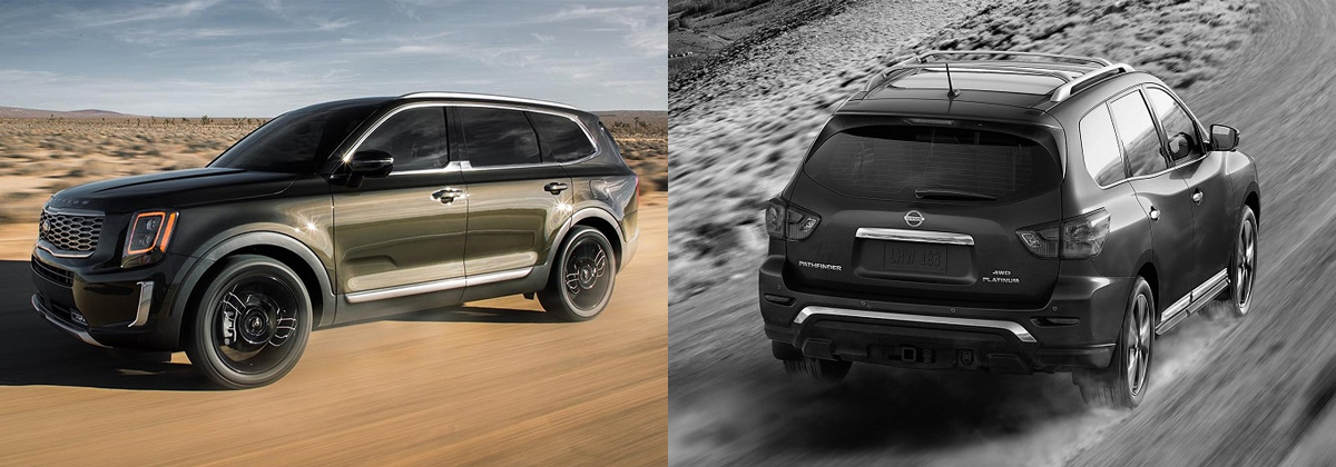 2020 Kia Telluride vs 2019 Nissan Pathfinder in Greensboro NC