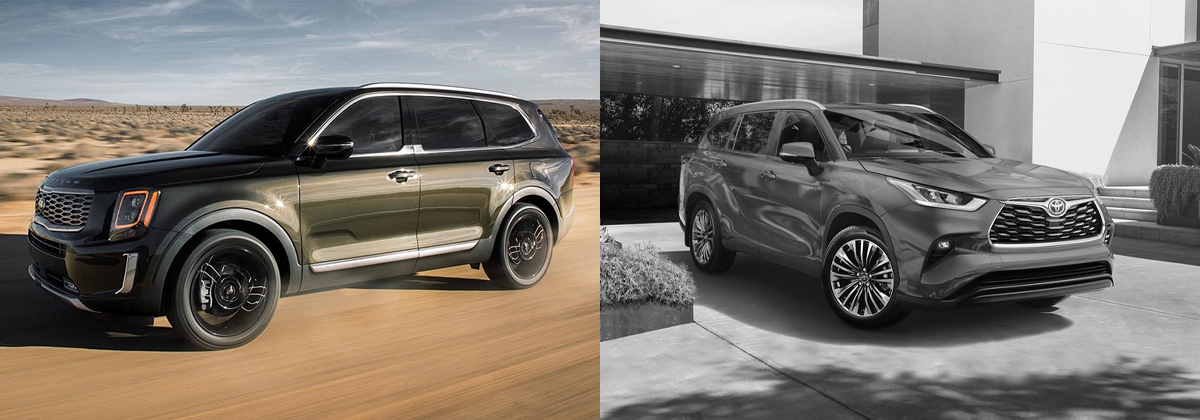 2020 Kia Telluride vs 2020 Toyota Highlander in Mississauga ON