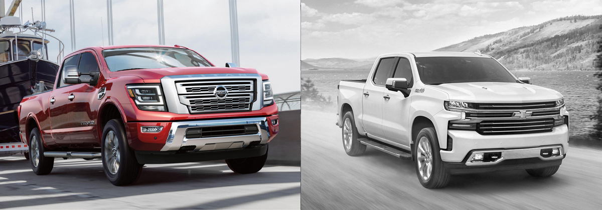 Review the 2020 Nissan Titan vs 2020 Chevrolet Silverado 1500 in Lakewood CO
