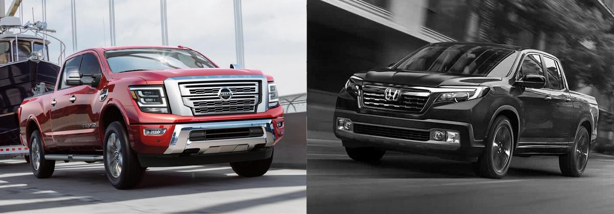 2020 Nissan Titan vs 2020 Honda Ridgeline in San Antonio TX