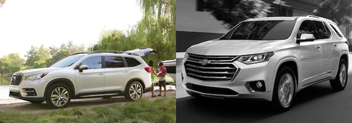 Review the 2020 Subaru Ascent vs 2020 Chevrolet Traverse comparison in Southfield Michigan