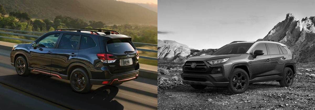 Check out the 2020 Subaru Forester vs 2020 Toyota RAV4 in Boulder CO