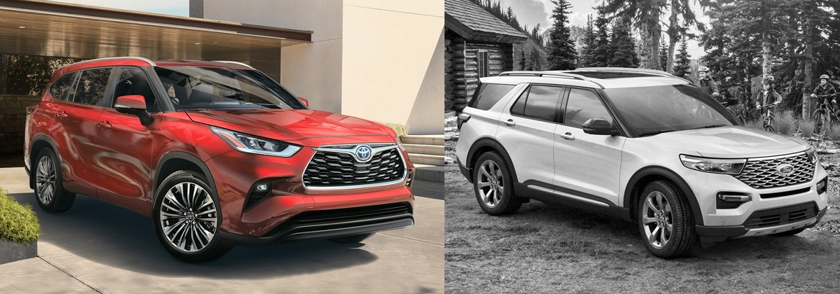 2020 Toyota Highlander vs 2020 Ford Explorer in Shreveport LA