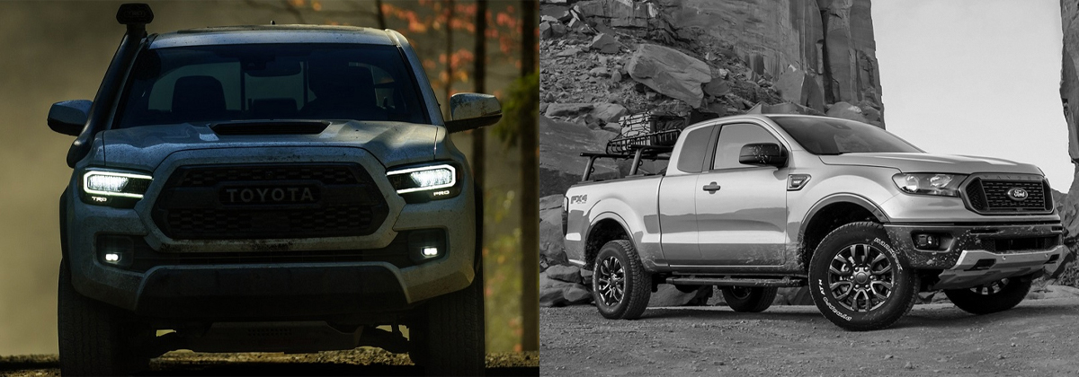 2020 Toyota Tacoma vs 2020 Ford Ranger near Pittsburgh PA