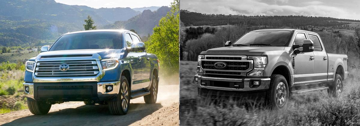 Explore the 2020 Toyota Tundra vs 2020 Ford Super Duty in Hermitage PA