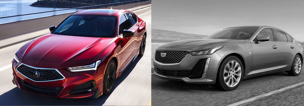 Check out the 2021 Acura TLX vs 2021 Cadillac CT5 near Pueblo CO
