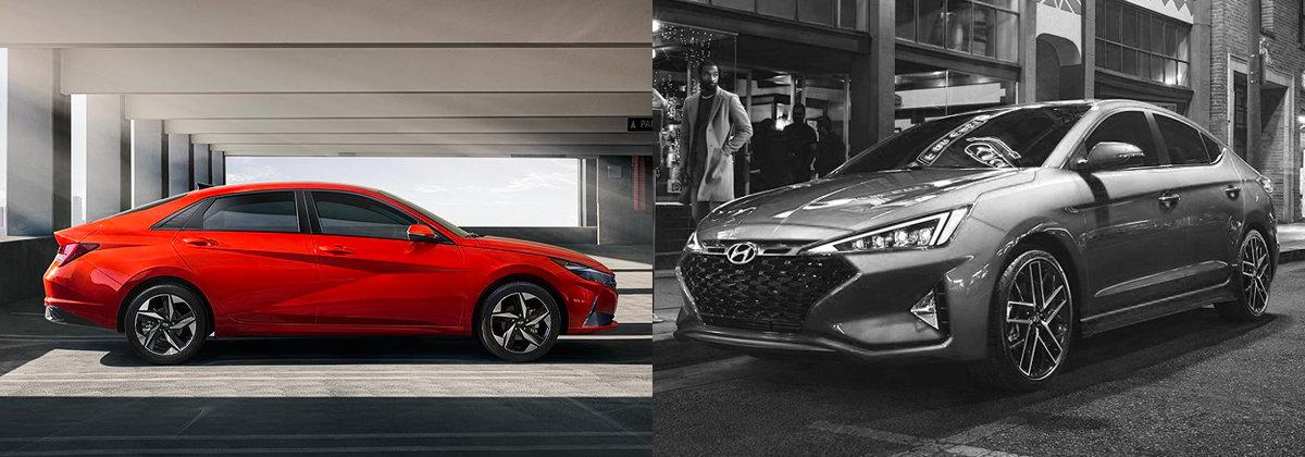 2021 Hyundai Elantra vs 2020 Hyundai Elantra near Denver CO