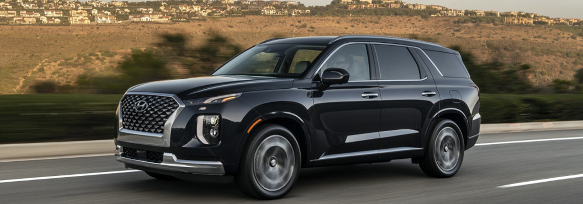 Ride with highly rated 2020 Hyundai Palisade near Aurora CO