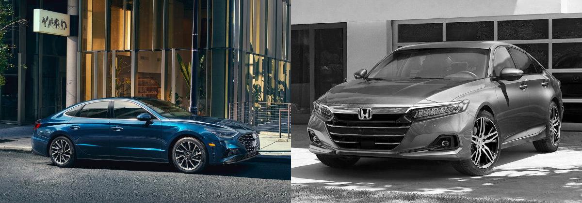 2021 Hyundai Sonata vs 2021 Honda Accord in Centennial