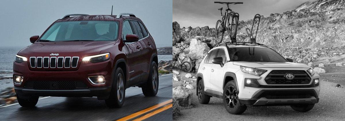 Explore the 2021 Jeep Cherokee vs 2021 Toyota RAV4 near Alhambra CA