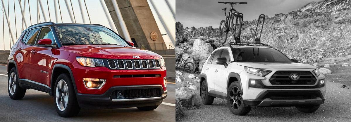 Presenting 2021 Jeep Compass vs 2021 Toyota RAV4 near Longmont CO