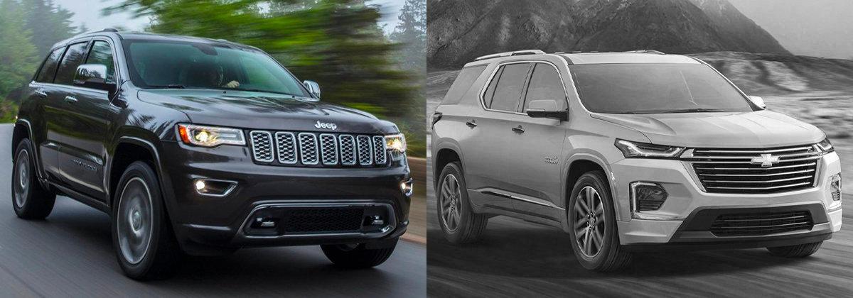 2021 Jeep Grand Cherokee vs 2021 Chevrolet Traverse in Wabash IN
