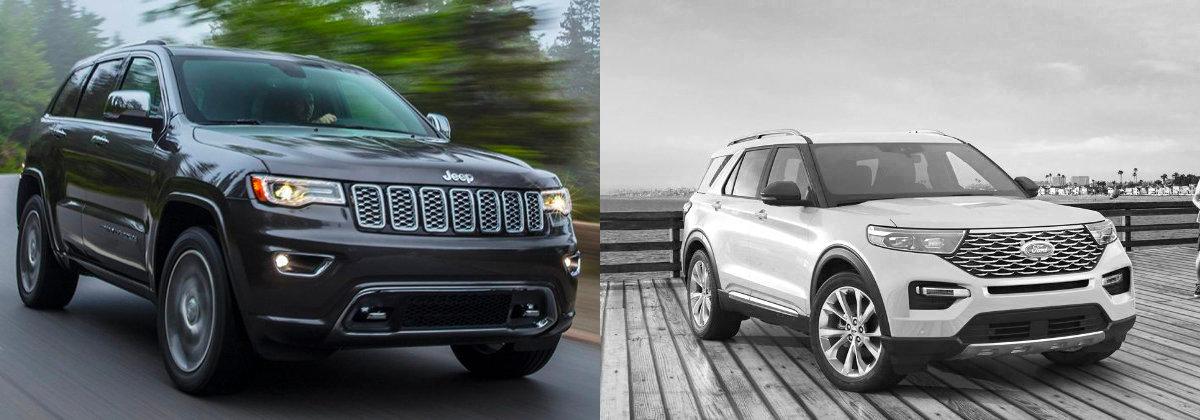 2021 Jeep Grand Cherokee vs 2021 Ford Explorer near Fort Wayne IN