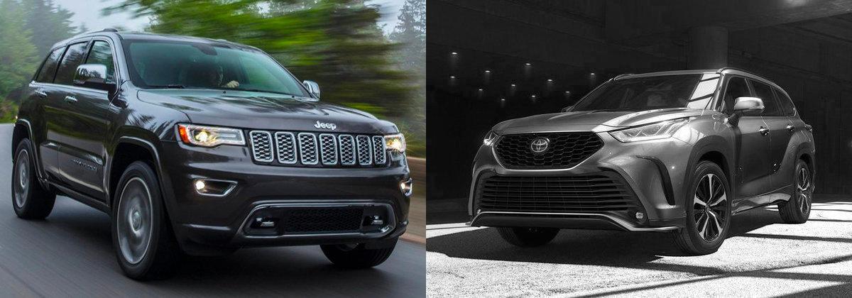 Explore the 2021 Jeep Grand Cherokee vs 2021 Toyota Highlander near Cerritos CA