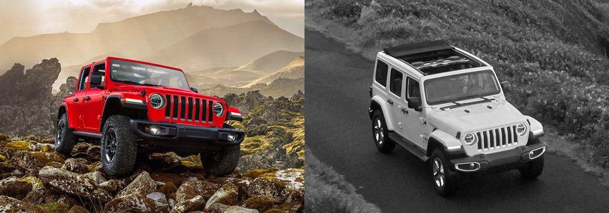 2021 Jeep Wrangler vs 2020 Jeep Wrangler near Los Angeles