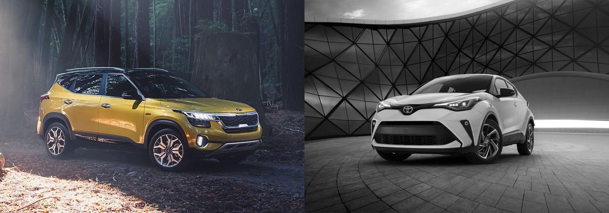 2021 Kia Seltos vs 2020 Toyota C-HR in Mississauga ON